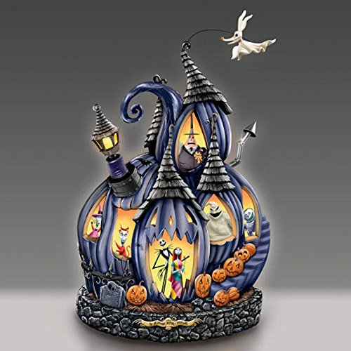 Disney Tim Burton's The Nightmare Before Christmas Masterpiece Pumpkin Sculpture by The Bradford Exchange]()