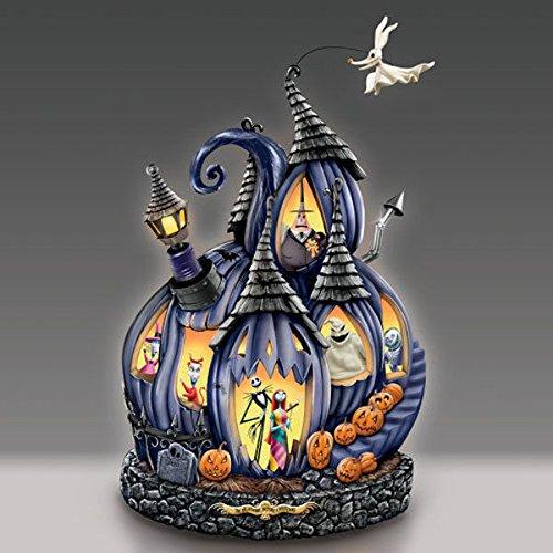 Sculpture Pumpkin - Disney Tim Burton's The Nightmare Before Christmas Masterpiece Pumpkin Sculpture by The Bradford Exchange