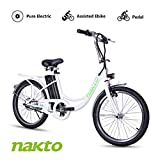 BRIGHT GG NAKTO 22 inch City Electric Bike for Adults Women Ebike with 36V10A Lithium Battery and 250W Motor
