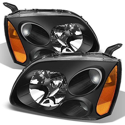 Headlamps Mitsubishi Headlight Galant (ForBlack Bezel 04-12 Mitsubishi Galant Headlights Front Lamps Direct Replacement Pair Left + Right)