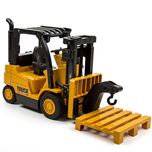 Toysery Functions Remote Control Truck Forklift Toy Play Set Vehicle for Kids - Creative Simulation Forklift Vehicle Toy - Gift Workmanship for Children Boys Girls - High Powered Motors,