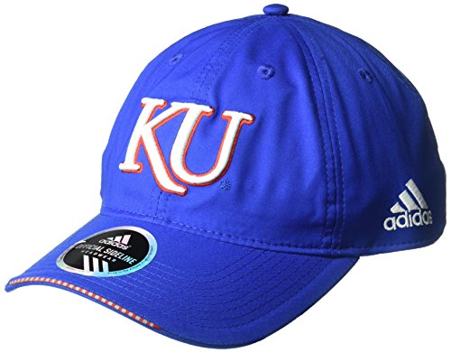 Kansas Jayhawks Coaches - adidas NCAA Kansas Jayhawks Adult Men Coach's Adjustable Slouch Hat, One Size, Royal