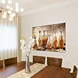 Bilder-Afrika-Erdmnnchen-Wandbild-120-x-80-cm-3-Teilig-Vlies-Leinwand-Bild-XXL-Format-Wandbilder-Wohnzimmer-Wohnung-Deko-Kunstdrucke-Braun-MADE-IN-GERMANY-Fertig-zum-Aufhngen-005531a