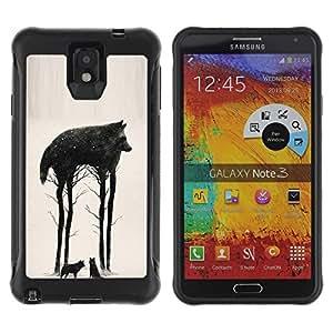 LASTONE PHONE CASE / Suave Silicona Caso Carcasa de Caucho Funda para Samsung Note 3 / Trees Abstract Meaning Nature