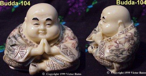 Sitting Budda - Hands in Prayer (Mammoth Ivory Jewellery)