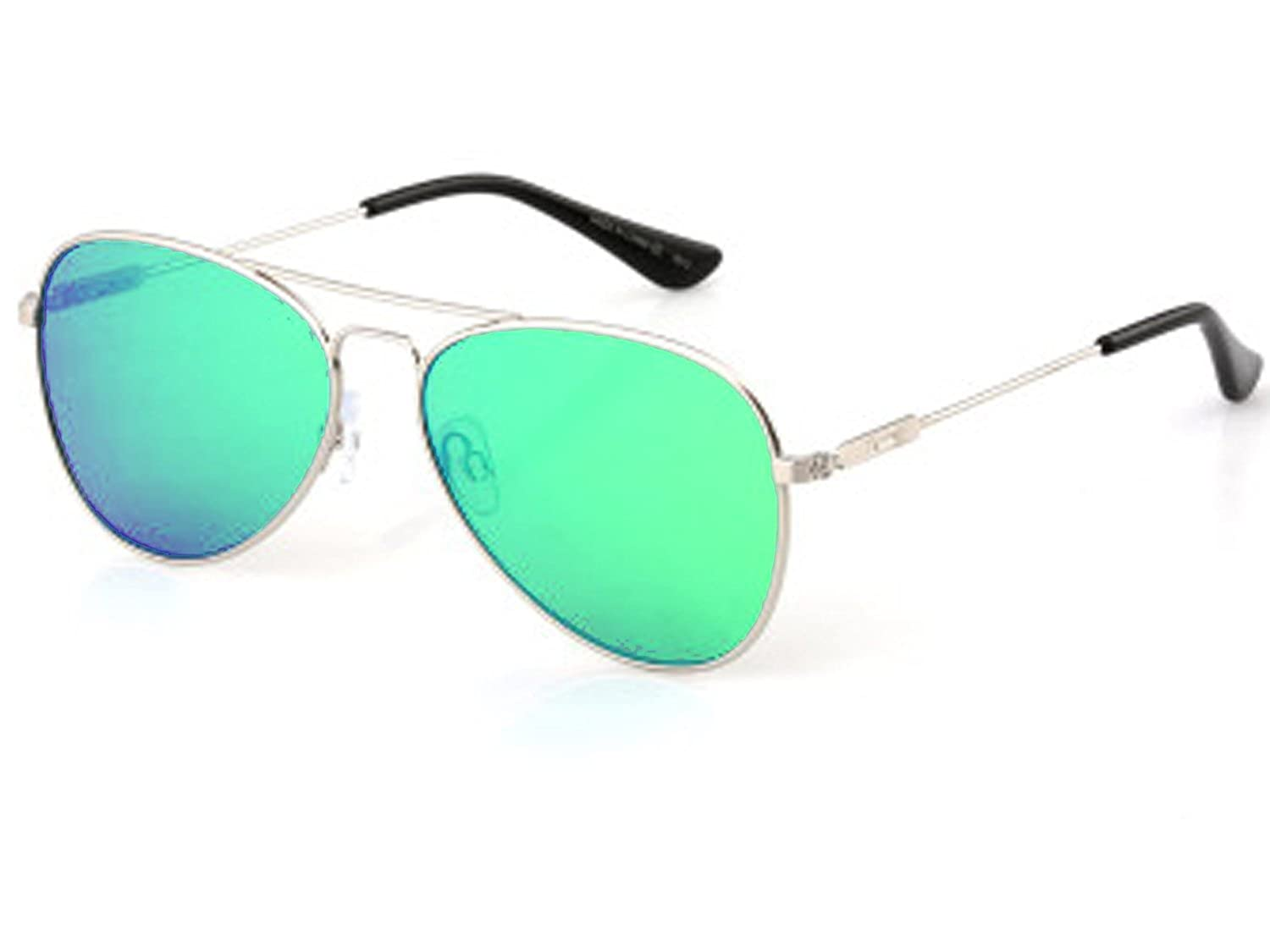 Dot Dash AEROGIZMO Silver Gloss / Green Chrome Sunglasses SSG