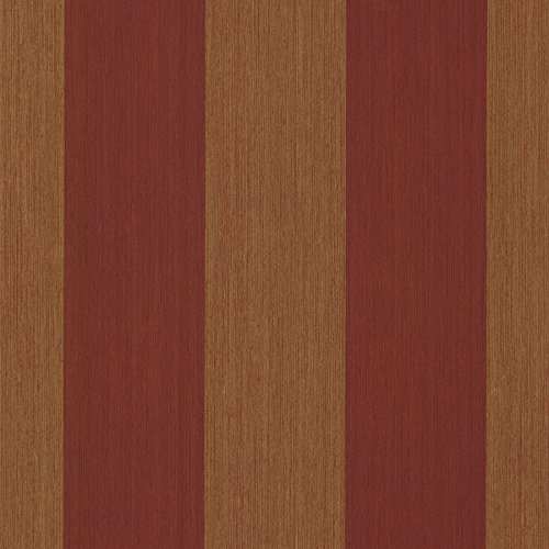 Chesapeake SRC10287 Kittery Affinity Stria Wallpaper, Brick ()