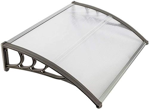 Binlin Window Door Awning,31″x 39″ Window Awning Overhead Door Polycarbonate Cover Front Door Outdoor Patio Canopy Sun Shetter,UV,Rain Snow Protection Hollow Sheet