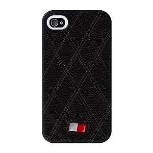 Stylish Black Leather Flag of Malta abrigo lleno blanca carcasa iPhone 4s de UltraFlags