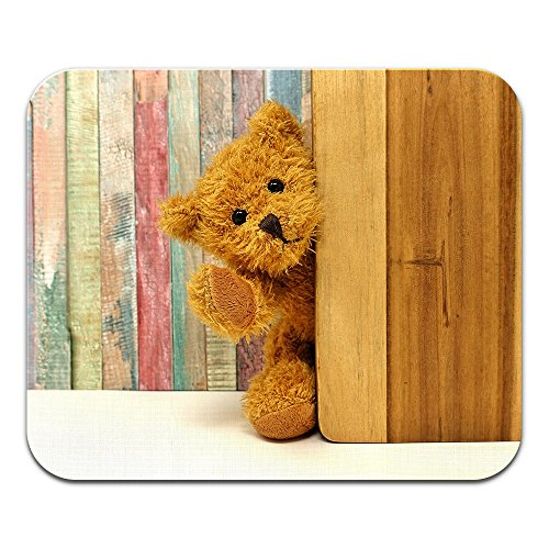 (Tadnil Orange Teddy Bear Rainbow Wood Non-Slip Rectangle Mouse pad for Home, Office and Gaming Desk)