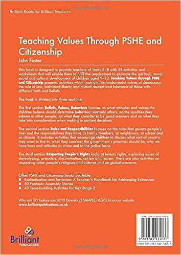 Amazon.com: Teaching Values through PSHE and Citizenship ...