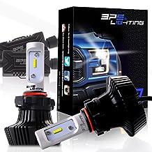 BPS Lighting G7 LED Headlight Bulbs Kit w/Clear Arc Beam 50W 8000LM 6000K - 6500K White Philips Luxeon ZES LED Headlight Conversion for Replace Halogen Bulb Headlights 2 Yr Warranty - (2pcs/set) (5202/H16EU, 6500K)