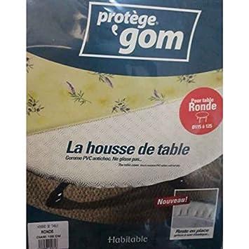 Protège table ROND 1m35 - sous nappe gom élastiqué - housse de ...