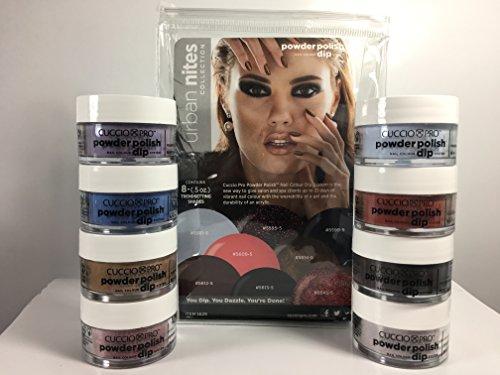 - Cuccio URBAN NITES Collection Nail Dipping Powder Polish Dip 8 Colors