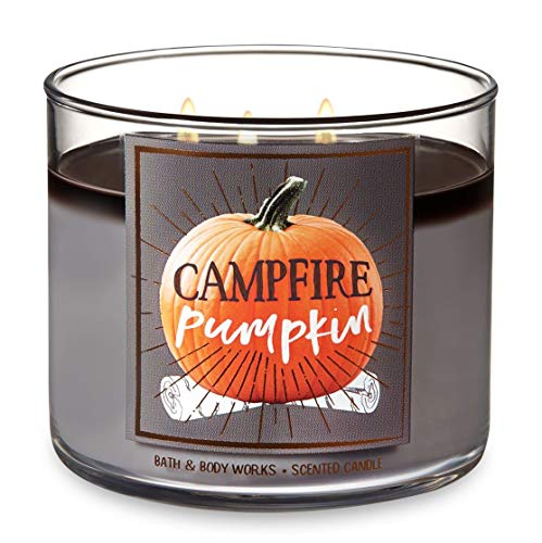 Bath and Body Works Campfire Pumpkin - Large 14.5 Ounce 3-Wick Candle - Limited Edition Fall Pumpkin Cafe