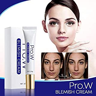 Pro.W Blemishs Cream for Dark Spot, Instant Removal, Hyaluronic Acid, Niacinamide Moisturing White-ning Cream, No Irritating & Accurately Repairment for All Skin Types (30g)