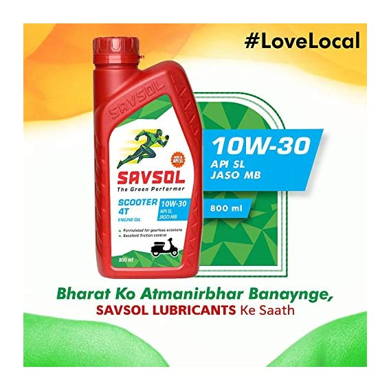 SAVSOL Scooter 4T API SL JASO MB Engine Oil for Scooters (800 ML)