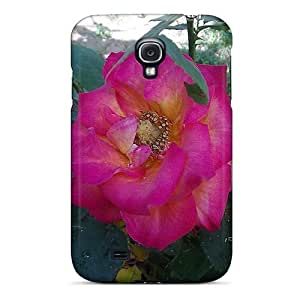Case Cover For Galaxy S4 - Retailer Packaging Shocking Pink Rose Protective Case