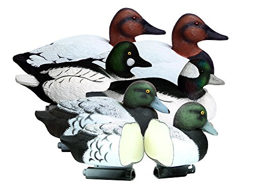 Higdon Outdoors Battleship Foam Filled Diver Drake Decoys, 6 Pack