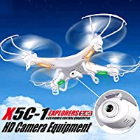 Marketworldcup X5C-1 Explorers 2.4G 4CH 6-Axis Gyro RC Quadcopter Drone HD Camera LCD RTF