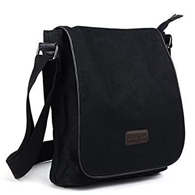 Amazon.com: Eshow Men's Canvas Messenger Bag Shoulder Crossbody ...
