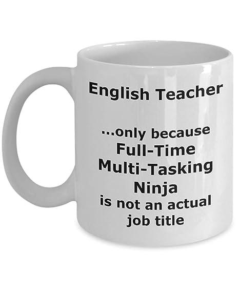 Amazon.com: Ninja English Teacher Funny Gift Mug: Kitchen ...