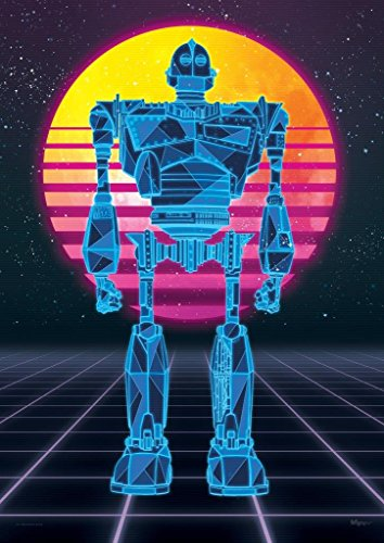 - MightyPrint Ready Player One – Iron Giant – 1980s Style Neon Art – Oasis – Unique Nostalgic Wall Art – NOT Made of Paper - Movie Collectible