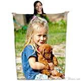 GG Promo Coral Fleece Throw Photo Blanket - Put Your Photo on a Coral Plush and Soft Blanket - 50 Inch by 60inch