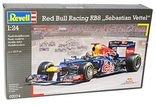 Red Bull Racing RB8 Formel 1 Sebastian Vettel Weltmeister 2012 07074 Bausatz Kit 1/24 Revell Modell Auto