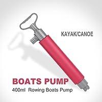 Qiilu Bomba Manual de Kayak de 46 cm, Bomba de achique Manual Flotante roja para Rescate en Kayak