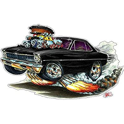 1966-1967 Nova Small 2Ft Long Wall Decal Chevy Chevrolet Vintage 3D Cartoon Car Movable Stickers Vinyl Wall Stickers for Kids Room: Baby