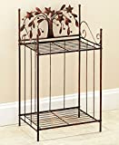 The Lakeside Collection Bronze Country Bathroom Towel Stacker