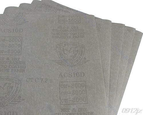 5 sheets Sandpaper 3000 Grit Waterproof Paper 9x11 Wet//Dry Silicon Carbide C90A New Drop ship