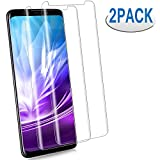 [2 Pack] Galaxy S9 Plus Screen Protector [9H Hardness][Anti-Scratch] [Anti-fingerprint][3D Curved] [High Definition] [Ultra Clear] Tempered Glass Screen Protector for Samsung Galaxy S9 Plus