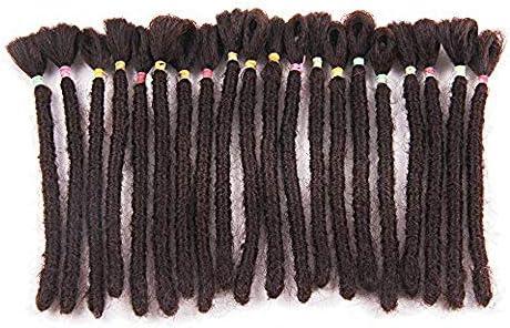 Dsoar 6 Inch Dreadlocks Extensions For Men Handmade Synthetic Dreads Short Hip Hop Locs Reggae Braiding Hair For Men 20 Strands Pack 4 Dark Brown Buy Online At Best Price In Uae Amazon Ae