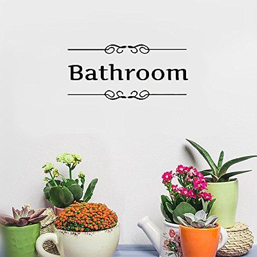 Cheap  milliy wall sticker inspirational black toilet door sign for bathroom hotel shop..