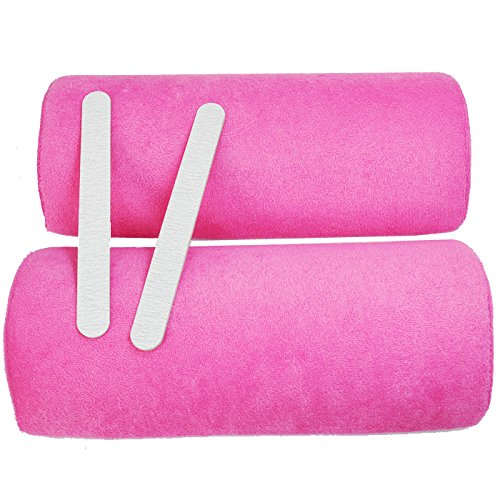 Beauties Factory 2 x Washable Cover & Inner Sponge Salon Hand Cushion Pillow Handrest