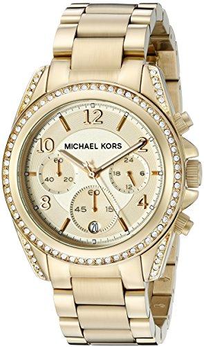 Michael Kors MK5166 – Reloj de cuarzo con correa de acero inoxidable para mujer, color dorado