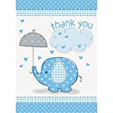 Baby : Blue Elephant Boy Baby Shower Thank You Cards, 8ct