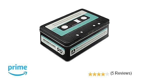 Nostalgic-Art Wave 30714 Retro Cassette Storage Tin, Flat: Amazon ...