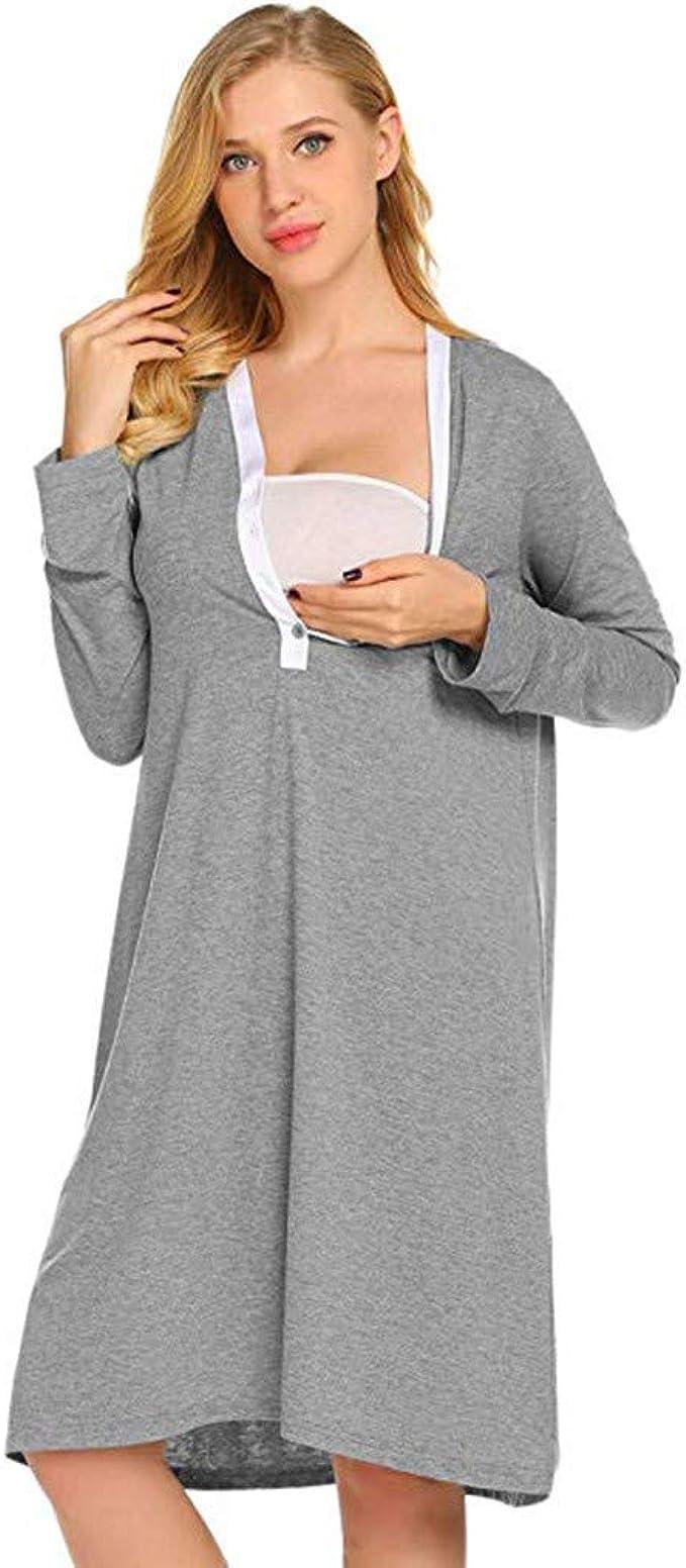 STRIR Premamá Pijama Conjunto Camiseta y Leggins Lactancia Maternidad Mujer - Premamá Camisón/Bata/Pijama: Amazon.es: Ropa y accesorios