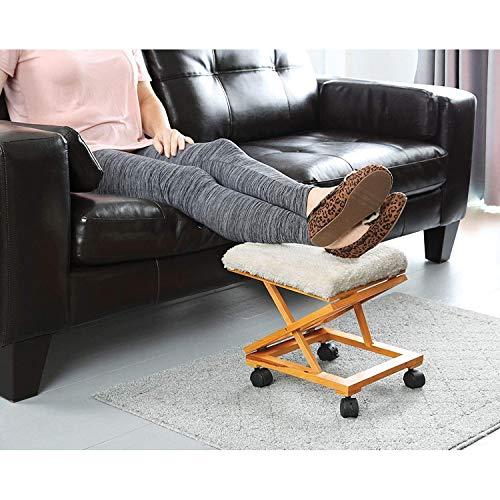 - Rolling Adjustable Fold-A-Way Fleece Cushion Foot Rest