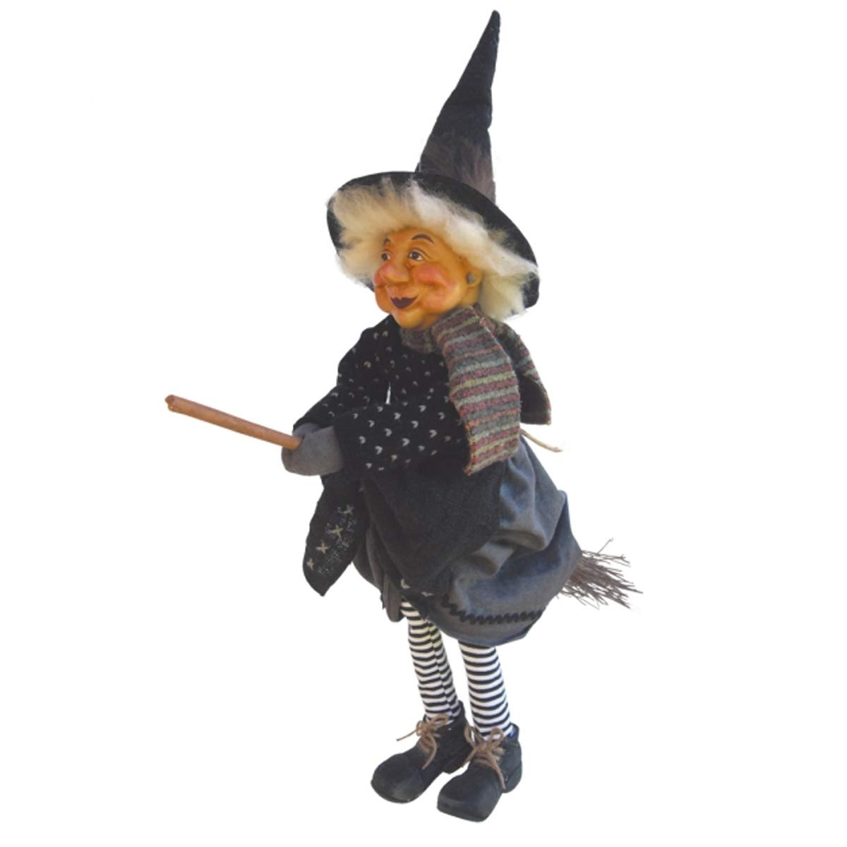 Witches of Pendle - Wilma Witch Flying (Grey) 40cm 5891-1