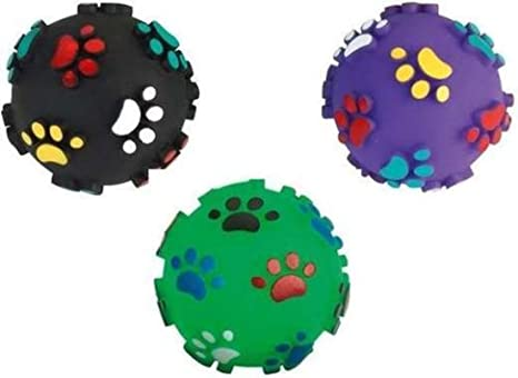 3 pieza 7 cm Balón de fútbol Perros quietsch de huellas para ...