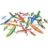 Rhode Island Novelty 8 Inch Flying Glider Plane Set of 12