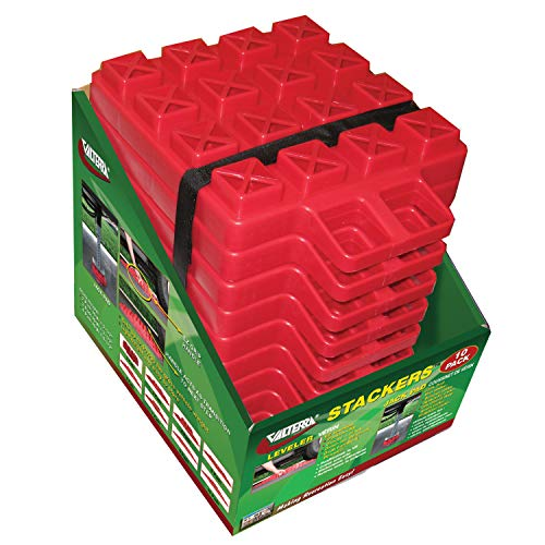 (Valterra Red 10 Pack A10-0918 Stackers Leveler/Jack Pad-10)