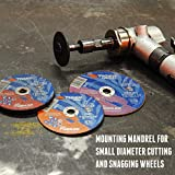 """Weiler 56490 Tiger Mounting Mandrel For 1""""-3"""" Type"""