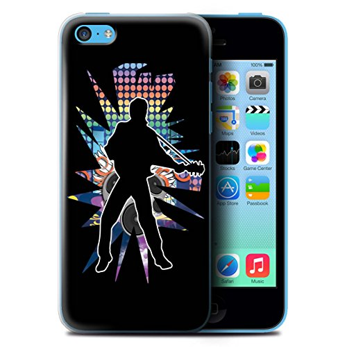 Coque de Stuff4 / Coque pour Apple iPhone 5C / Elvis Noir Design / Rock Star Pose Collection