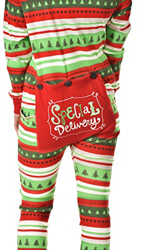 Special Delivery Flapjack Adult Flapjack Onsie Pajamas by LazyOne | Adult Kid Infant Dog Family Matching Pajamas (Medium)
