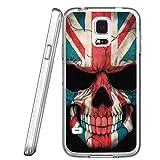 S5 Case British flag skeleton, LAACO Scratch